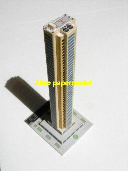 Modern luxury Residential hotel skyscraper street city highrise tall High building city scene big large scale size model models kit on for sale store shop