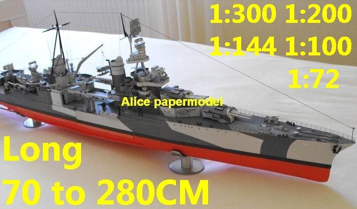 WWII US Heavy Cruiser USS Portland battleship landing craft aircraft carrier large scale size super big long submarine Modern Guided missile frigate destoryer passenger liner Ferry tugboat military warship ship paper models