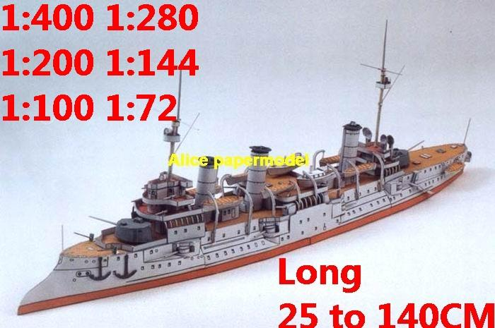 1:400 1:280 1:200 1:144 1:100 WWI ironclad battleship heavy cruiser submarine large scale size super big long missile frigate destoryer aircraft carrier military warship boat ship paper models model