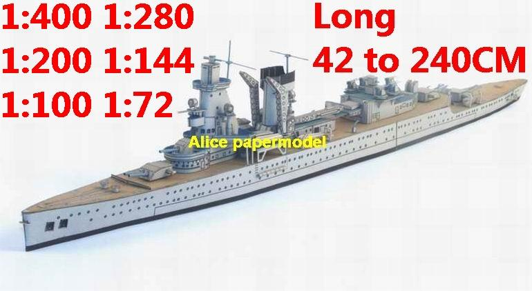 1:400 1:280 1:200 1:144 1:100 WWII Holland Dutch light cruiser DE RUYTER heavy cruiser class submarine destoryer battleship large scale size super big long missile frigate aircraft carrier military warship boat ship paper model models