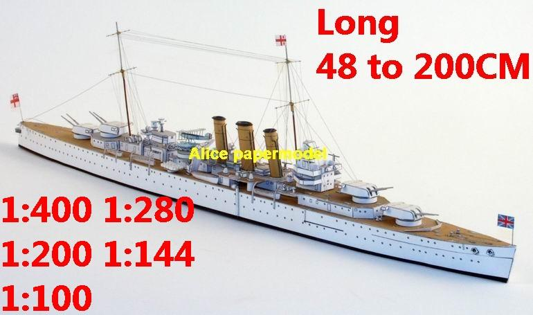 1:400 1:280 1:200 1:144 1:100 WWII UK HMS Norfolk class heavy cruiser destoryer battleship submarine large scale size super big long missile frigate aircraft carrier military warship boat ship paper model models