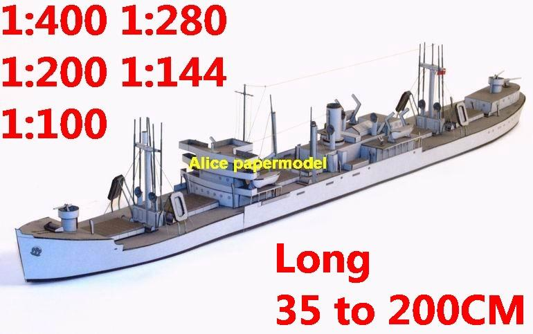 1:400 1:280 1:200 1:144 1:100 WWII transport fleet destoryer torpedo boat heavy cruiser submarine fleet battleship large scale size super big long missile frigate aircraft carrier military warship ship papercraft model models