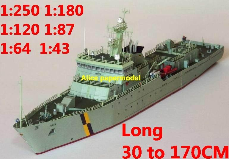 1:250 1:180 1:120 1:87 1:72 1:64 Coast Guard ship Fishery Protection Vessel bulk freighter Ocean-going oil tanker cargo Container Ferry tugboat papercraft model models