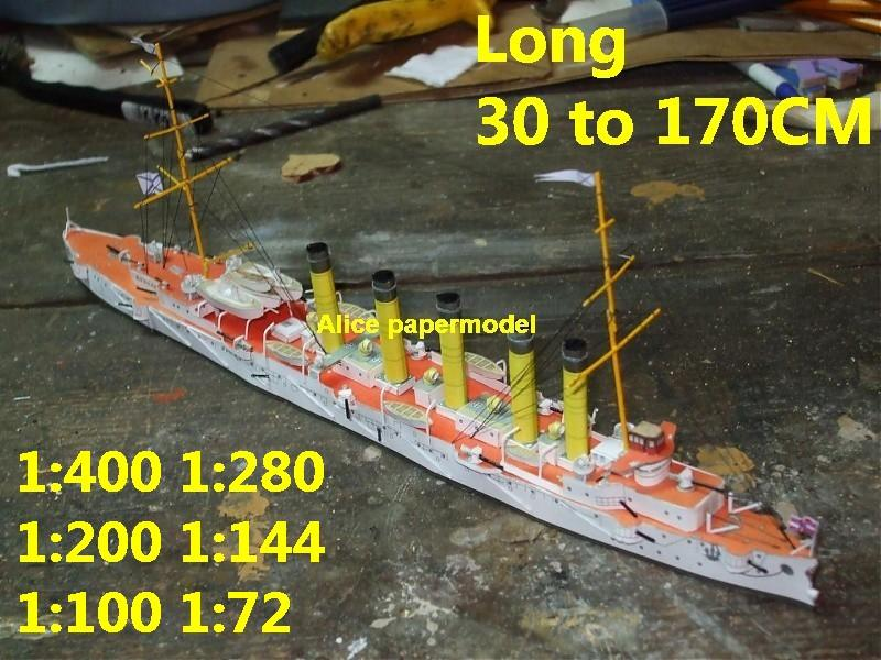 1:250 1:180 1:120 1:87 1:72 1:64 WWI Russia ironclad Askold Novgorod Torpedo boat battleship submarine large scale size super big long missile frigate destoryer aircraft carrier military warship ship papercraft models model