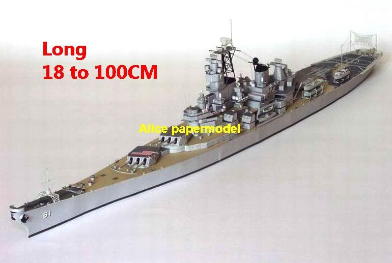 1:400 1:280 1:200 1:144 1:100 US NAVY USS Iowa class BB61 battleship Cruiser landing craft aircraft carrier large scale size super big long submarine missile frigate destoryer military warship ship boat paper model models