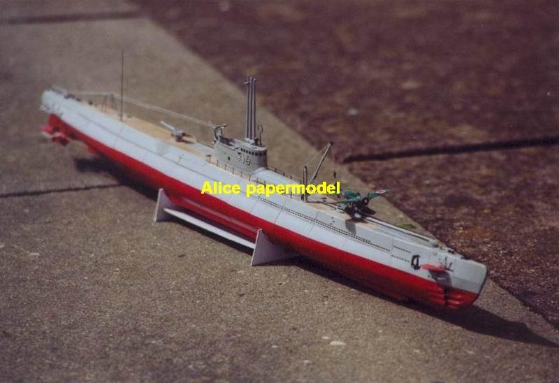 1:100 1:72 1:48 1:35 1:25 scale WWII Japan Japanese I-19 submarine patrol boat Gunship destoryer battleship Cruiser landing aircraft carrier large scale size super big long missile military warship frigate ship paper model models