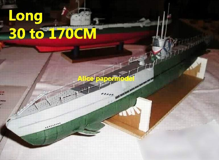 WWII German submarine U Boot U-Boot U boat U-boat Typ I A large scale size super big long battleship Modern Guided missile frigate destoryer aircraft carrier passenger liner Ship Ferry tugboat military warship boat ship paper models