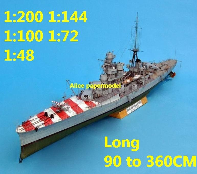 1:200 1:144 1:100 1:72 1:48 WWII Italy Rm Zara Cruiser destoryer battleship landing aircraft carrier large scale size super big long submarine missile frigate military warship ship models model