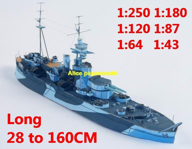 1:400 1:280 1:200 1:144 1:100 WWII Monitor HMS Roberts The Last of the Big Guns light cruiser Admiral Scheer destoryer submarine torpedo boat fleet battleship large scale size super big long missile frigate aircraft carrier military warship ship papercraft model models