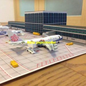 airport plane runway airfield airdrome terminal aerodrome flying fieldhangar parking apron scene models