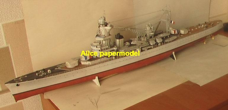WWII France Heavy Cruiser ALGERIE battleship landing ship aircraft carrier craft large scale size super big long submarine Modern Guided missile frigate destoryer passenger liner Ferry tugboat military warship ship paper models