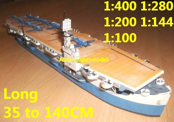 1:400 1:280 1:200 1:144 1:100 WWII US Escort aircraft carrier landing large scale size super big long submarine battleship Modern Guided missile frigate destoryer military warship ship paper models model