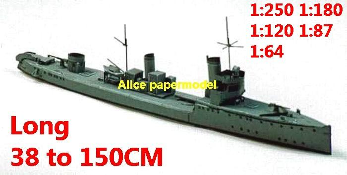 1:250 1:180 1:120 1:87 1:72 1:64 WWI German SMS Torpedo boat battleship submarine large scale size super big long missile frigate destoryer aircraft carrier military warship ship papercraft model models
