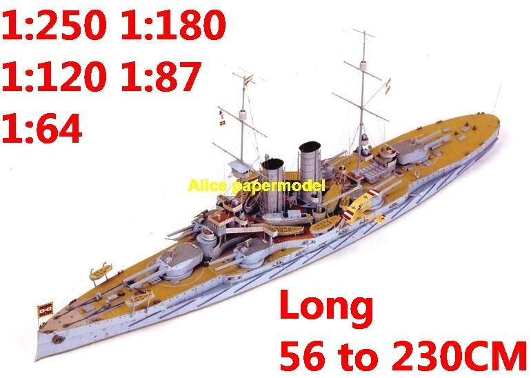 1:250 1:180 1:120 1:87 1:72 1:64 WWI Austrian Hungarian battleship RADETZKY submarine large scale size super big long missile frigate destoryer aircraft carrier military warship boat ship paper model models