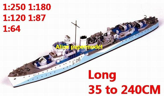 1:400 1:280 1:200 1:144 1:100 WWII destoryer heavy cruiser submarine fleet battleship large scale size super big long missile frigate aircraft carrier military warship boat ship papercraft models model