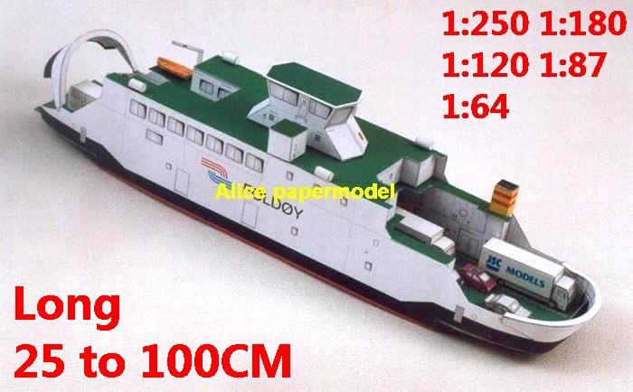 1:250 1:180 1:120 1:87 1:72 1:64 car ferry bulk freighter Ocean-going oil tanker cargo Container vessel Ship Ferry tugboat paper models model