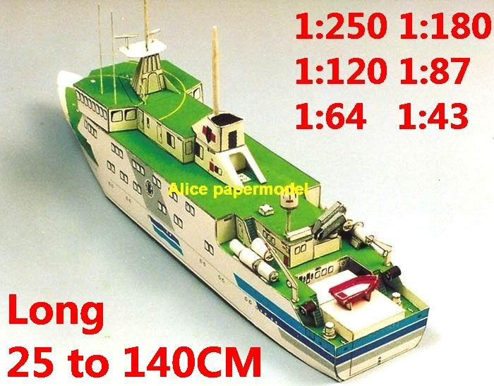1:250 1:180 1:120 1:87 1:72 1:64 science research vessel car ferry bulk freighter Ocean-going oil tanker cargo Container Ship Ferry tugboat paper models model