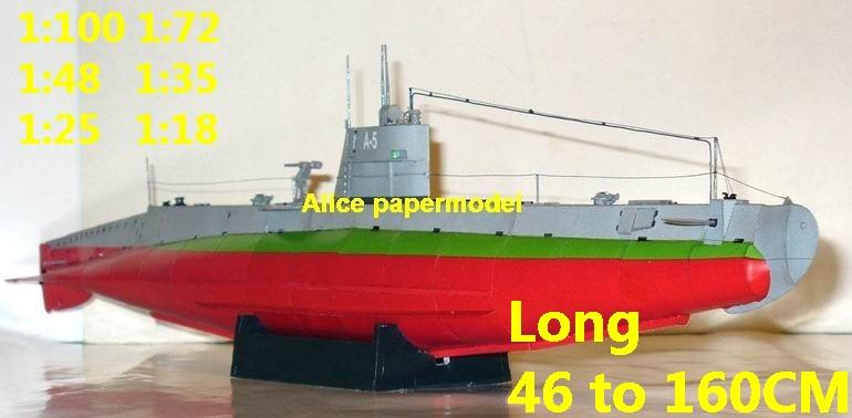 1:100 1:72 1:48 1:35 1:25 1:18 WWII Russia Soviet Union submarine U Boot U-Boot U boat U-boat large scale size super big long battleship missile frigate destoryer aircraft carrier military warship ship boat papercraft models model