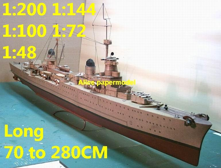 1:200 1:144 1:100 1:72 WWII Italy roma class Pola battleship Cruiser landing aircraft carrier large scale size super big long submarine missile frigate destoryer military warship ship model models