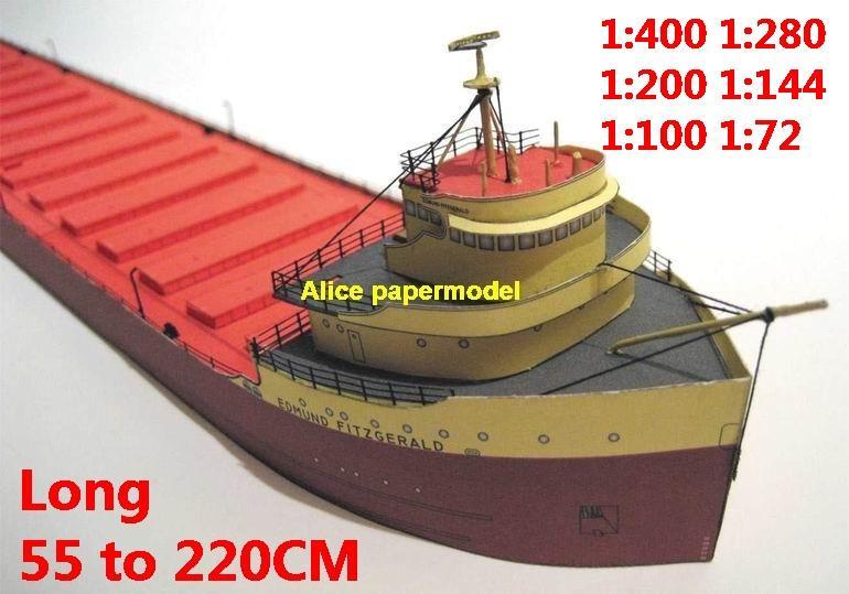 1:400 1:280 1:200 1:144 1:100 large bulk freighter Ocean-going oil tanker cargo Container vessel Ship Ferry tugboat paper models model