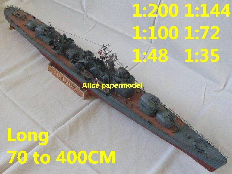 1:200 1:144 1:100 1:72 1:48 1:35 WWII Japan Japan IJN Fuyuzuki Heavy Cruiser battleship landing aircraft carrier large scale size super big long submarine missile frigate destoryer military warship ship paper model models