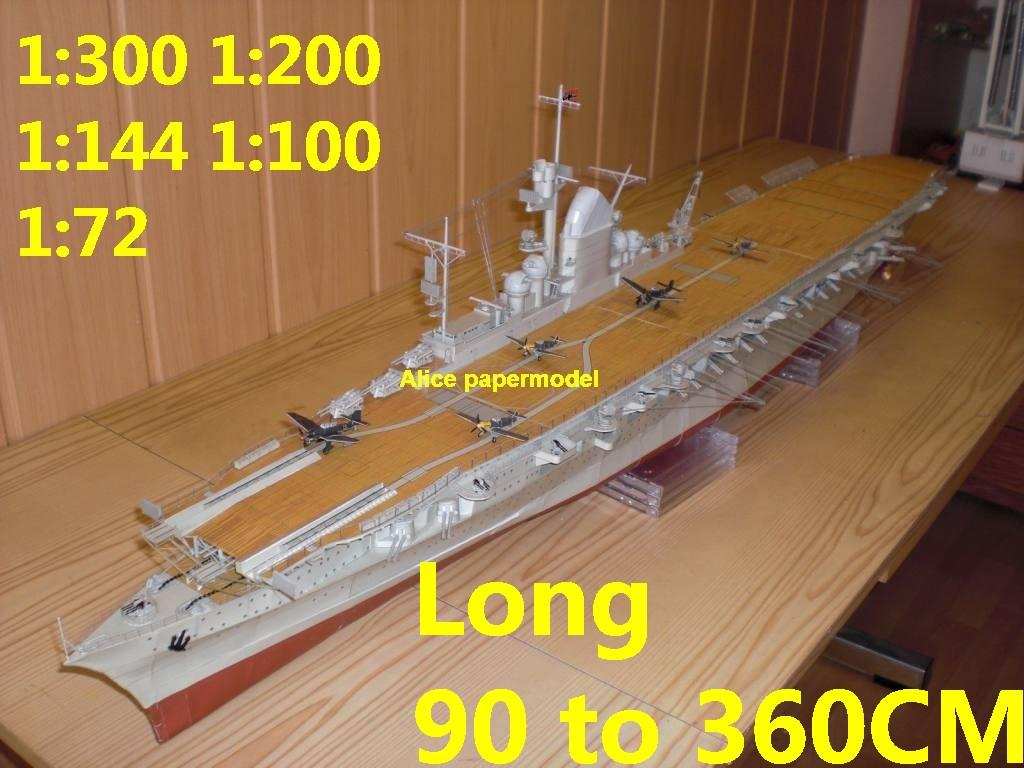 1:300 1:200 1:144 1:100 1:72 WWII German Graf Zeppelin class aircraft carrier large scale size super big long landing ship submarine battleship Modern Guided missile frigate destoryer military warship paper models model