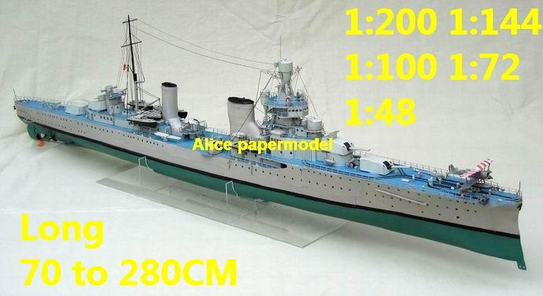 1:200 1:144 1:100 1:72 1:48 WWII Italy Light Cruiser Rm Bartolomeo Colleoni destoryer battleship landing aircraft carrier large scale size super big long submarine missile frigate military warship ship model models