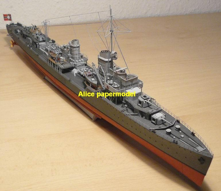 WWII German Z-1 Z1 class destoryer Torpedo boat aircraft carrier landing ship craft large scale size super big long submarine battleship Modern Guided missile frigate passenger liner tugboat Ferry military warship ship paper models