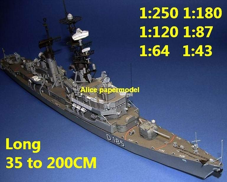 1:250 1:180 1:120 1:87 1:72 1:64 German Germany missile frigate destoryer Lutjens Molders Rommel Torpedo boat battleship submarine large scale size super big long aircraft carrier military warship ship papercraft models model