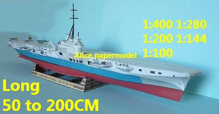 1:200 1:144 1:100 WWII UK HMS Colossus aircraft carrier landing large scale size super big long submarine battleship Guided missile frigate destoryer military warship ship paper models model