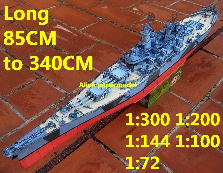 WWII US Iowa class USS Iowa BB61 battleship Cruiser landing craft aircraft carrier large scale size super big long submarine Modern Guided missile frigate destoryer passenger liner military warship ship paper models