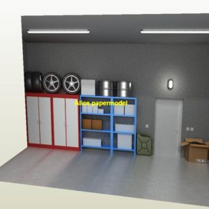 1:6 1:12 1:18 scale house indoor parking garage Factory warehouse Military Soldiers Barbie doll car model scene models