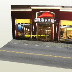 1:64 1:43 1:32 1:24 1:18 1:12 scale pizza hut city shop street scene doll Military Soldiers house building underground garage parking car model scene background base platform models