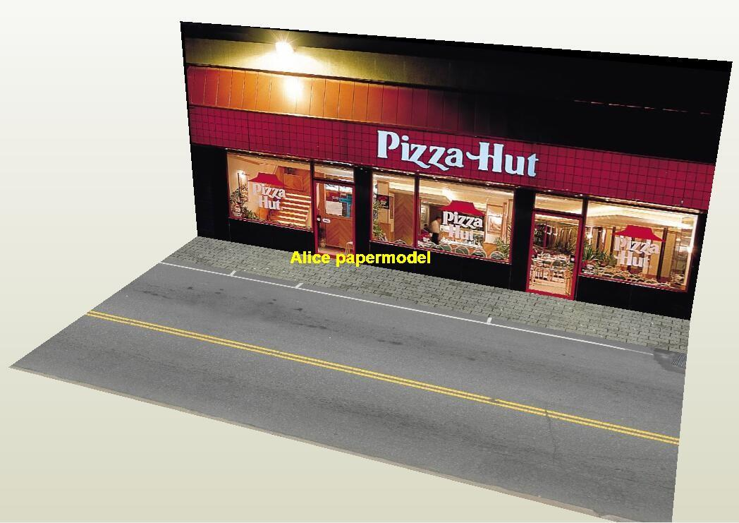 1:64 1:43 1:32 1:24 1:18 scale pizza hut city shop street scene doll Military Soldiers house building underground garage parking car model scene background base platform models