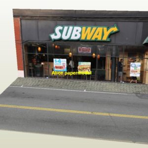 1:64 1:43 1:32 1:24 1:18 scale Subway hotdog fast food door parking garage lot area Military Soldiers Barbie doll car model scene background base platform models
