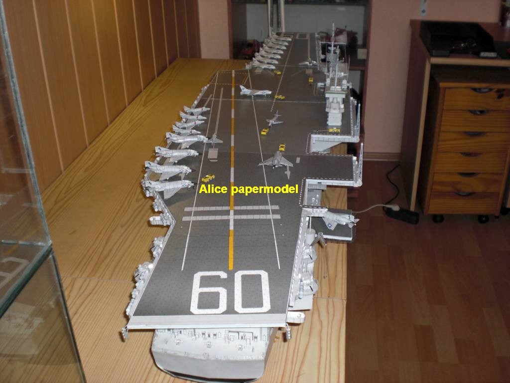 1:300 1:200 1:144 1:100 1:72 US nuclear CVA60 CVA-60 CV60 CV-60 USS SARATOGA aircraft carrier landing ship craft large scale size super big long submarine battleship Modern missile frigate destoryer military warship paper model models