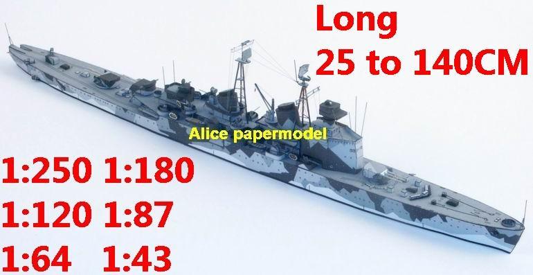 1:400 1:280 1:200 1:144 1:100 WWII Swedish Crucero Gota Lejon destoryer torpedo boat heavy cruiser submarine fleet battleship large scale size super big long missile frigate aircraft carrier military warship ship papercraft models model