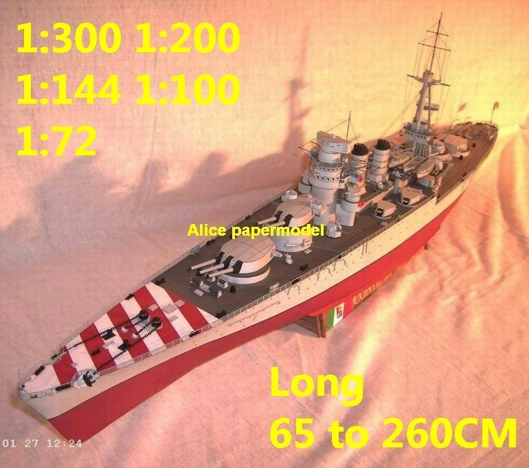 1:300 1:200 1:144 1:100 1:72 WWI Italy Conte Di Cavour class battleship Cruiser landing aircraft carrier large scale size super big long submarine missile frigate destoryer military warship ship model models