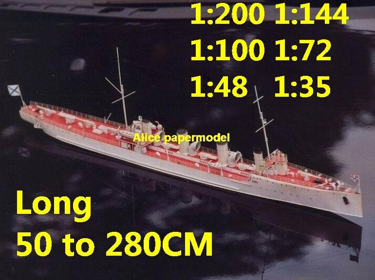 WWI Russia SMS Novik Battleship Ironclad battleship missile cruiser frigate destoryer aircraft carrier landing ship large scale size super big long submarine military warship papercraft model models