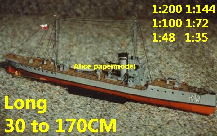 1:200 1:144 1:100 1:72 1:48 WWI Torpedo boat gunboat gunship ironclad frigate missile submarine destoryer large scale size super big long battleship aircraft carrier military warship ship papercraft model models