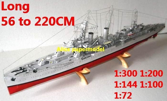 WWII German SMS ENDEN Ironcladbattleship missile cruiser frigate destoryer aircraft carrier landing ship craft large scale size super big long submarine military warship papercraft model models