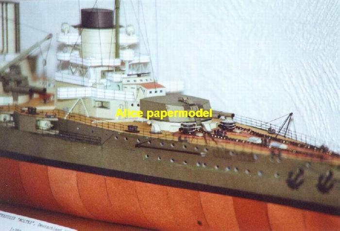 WWI German SMS Moltke Ironclad battleship missile cruiser frigate destoryer aircraft carrier landing ship large scale size super big long submarine military warship papercraft model models
