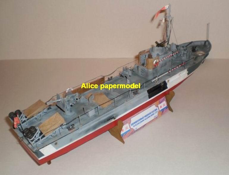 Torpedo boat gunboat gunship ironclad frigate missile submarine destoryer large scale size super big long battleship aircraft carrier military warship ship papercraft model models