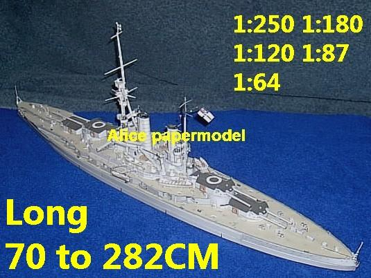 German SMS Baden ironclad missile frigate destoryer Torpedo boat submarine battleship large scale size super big long aircraft carrier military warship ship papercraft models model