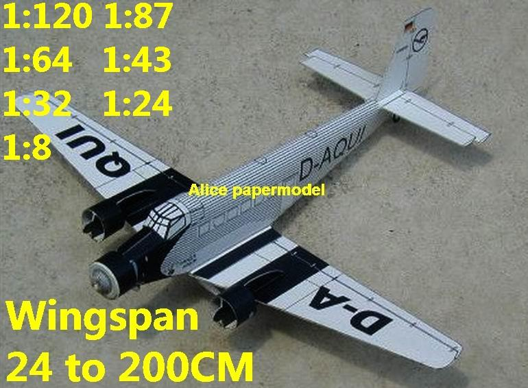 WWII German Junker ju52 JU-52 army military aircraft army transport plane fighter models