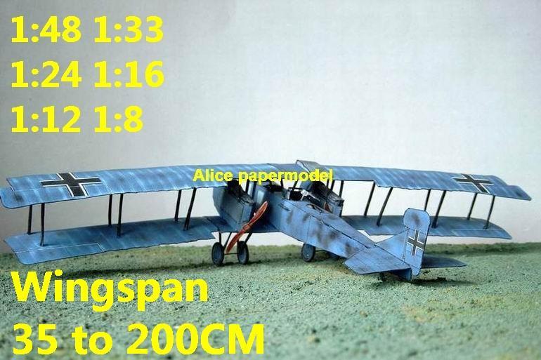 WWI German Germany bomber Gotha GV aircraft figher aircraft biplane models model