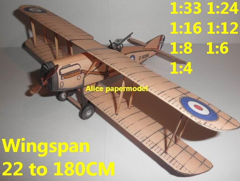WWI UK Bristol F2B fighter vintage aircraft biplane models