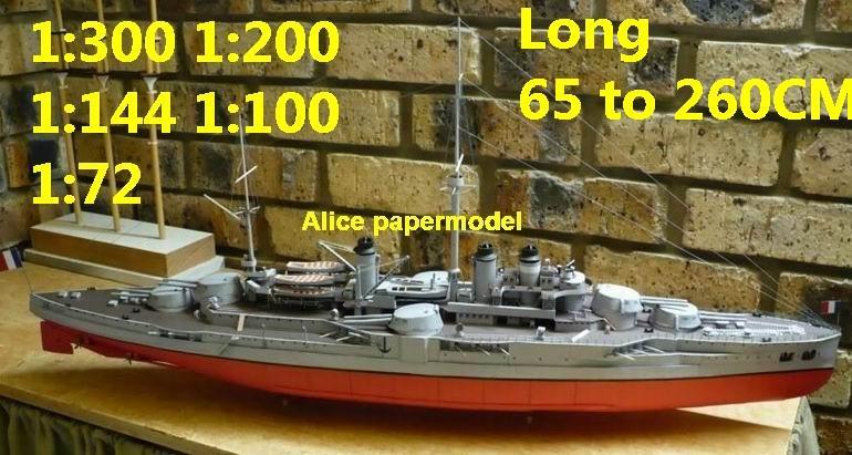 WWI French Courbet battlecruiser Battleship Ironclad battleship missile  cruiser frigate destoryer aircraft carrier landing ship large scale size  super