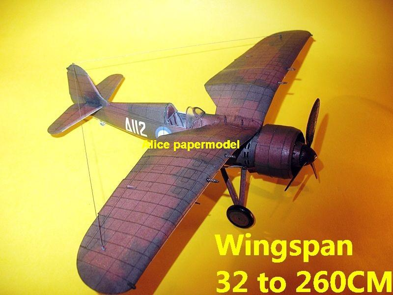 WWII Poland fighter PZL P-24G P24 fighter aircraft biplane big large scale size plane flighter model models soldier pilot scene on sale shop store
