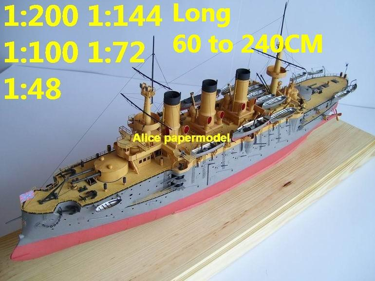 WWI Russia Peresvet battleship Ironclad missile cruiser frigate destoryer aircraft carrier landing ship large scale size super big long submarine military warship papercraft model models